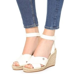 Tory Burch Bima Wedge Espadrille Strappy Sandals